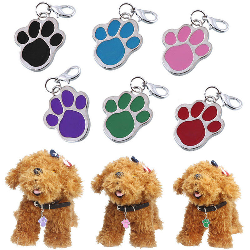 Hot Lovely Dog Paw Style Dog Name Dog Necklace Tag Pets For Pets Fashion Key Chain XH8Z