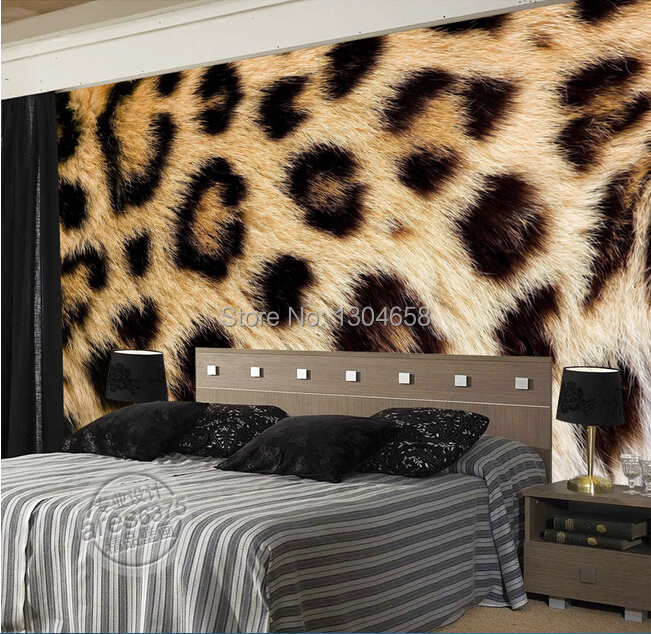 Custom Photo Wallpaper Leopard Fur For The Sitting Room Bedroom Tv Setting Wall Vinyl Sofa Which Papel De Parede In Wallpapers From Home Improvement On