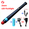 LED flashlight rechargeable 18650 battery CREE Q5 Outdoor climbing camping night ride Mini Zoom Sticks formula Tactical