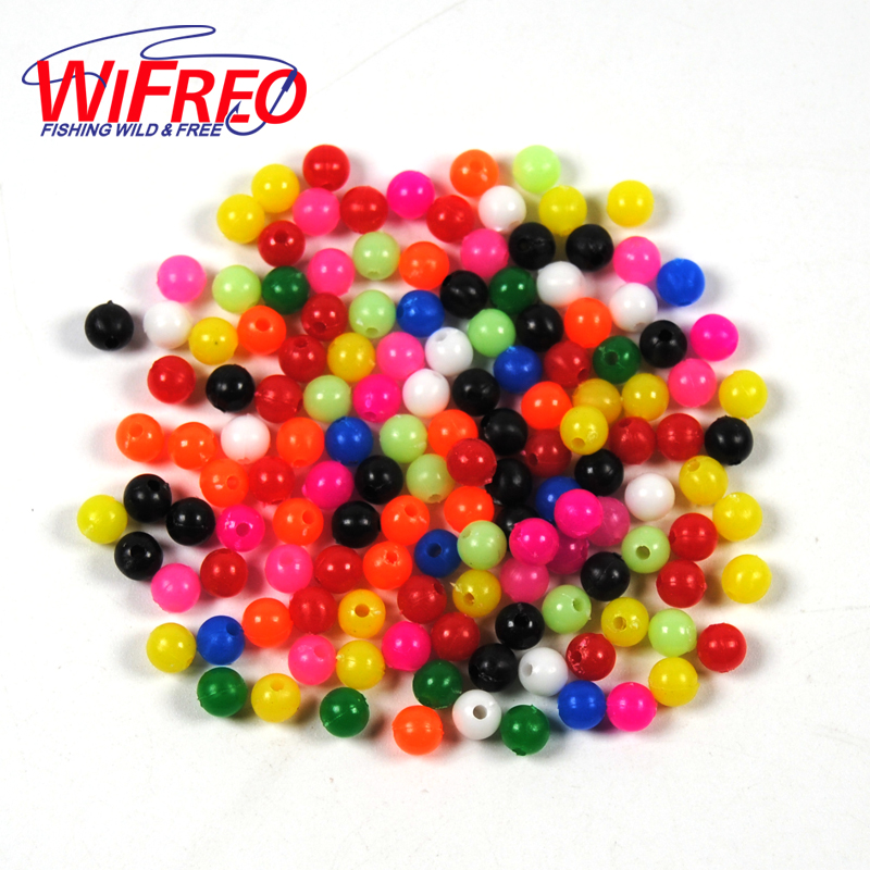 Wifreo 1000PCS M Mixed Color Fishing Rigging Plastic Beads for Lure Spinners Sabiki DIY 4mm 5mm 6mm 8mm Terminal Accessories artkal beads 28 color with pegboards accessories box set perler mini beads plastic eva educational toys for children ca28