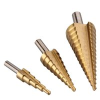 Promotion Set Of 3 Drills Cutters Floors Conical HSS Steel