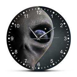 Космическая планета инопланетяне настенные часы инопланетянин смотреть на землю современные настенные часы подвесные часы Блюдце