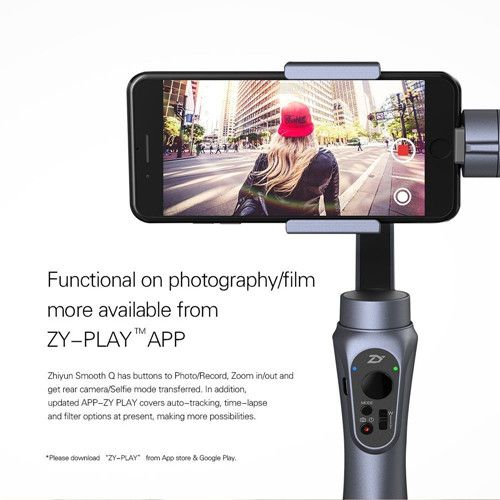 Zhiyun Smooth Q 3 Axis Brushless Handheld Gimbal For 6 Inch iPhone Smartphone GoPro 3/4/5 Smart Phone Mobile z1 smooth ii 3 axis brushless handheld gimbal stabilizer for smartphone handheld within 6 5 screen