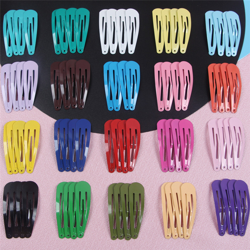 20pcs Hair Accessories Children Girls Hairpin BB Drop Clip Women Metal Hair Clip Pin Color Modeling Styling Tool Barrette 5cm