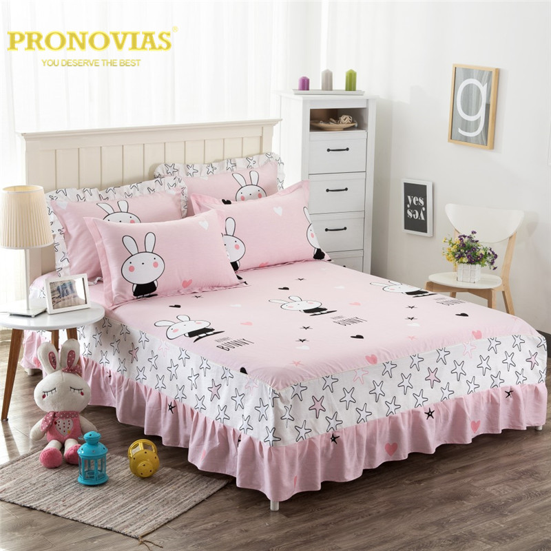 Night Tender 100% cotton bunny cartoon coverlet/bed skirt pillow cases 3pcs sheet set queen double full twin size for boys&girls