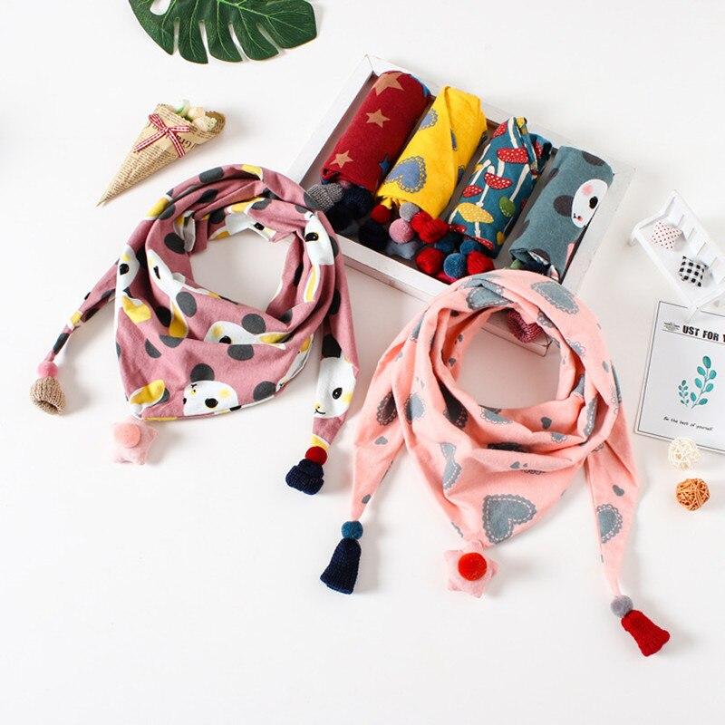 Baby Scarf Collars Play Wear-Accessories Bird Print Boys Fashion Cotton New Tassel Red