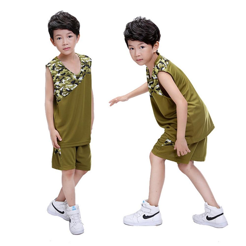 2017 New Kids Basketball Jerseys Sets Uniforms kits Child Sports clothing Retro jersey Youth basketball jerseys shorts DIY print - Colorful Paradise store