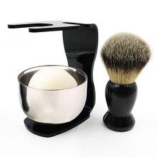 Badger Bristle Shaving Brush + Arcylic Brush Holder + Bowl + Shaving Soap Shaving Set HB88
