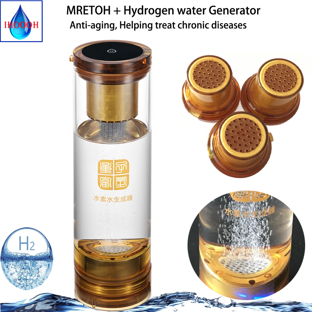 Excrete Chlorine ozone Separation of hydrogen and oxygen H2 Generator water cup and MRETOH Molecular Resonance Two-in-one