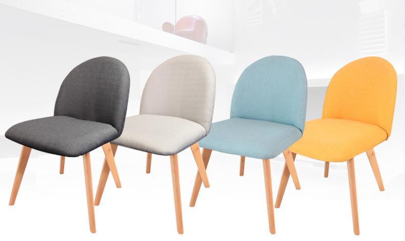 Restaurant Chair Hotel Hall Stool Wood Leg Linen Dining Room Chair