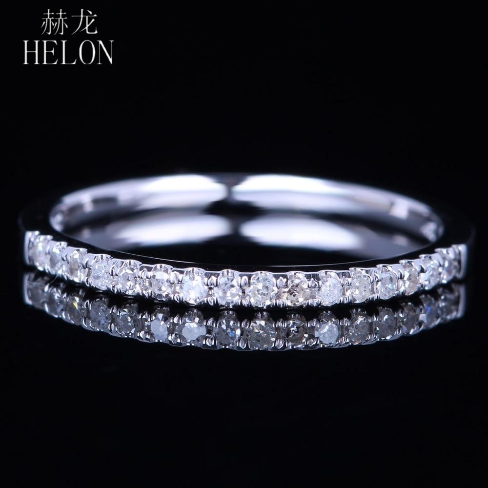 HELON SOLID 10K WHITE GOLD PAVE NATURAL DIAMONDS SPARKLED WEDDING BAND DIAMONDS ENGAGEMENT ANNIVERSARY WOMEN S