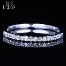 Helon твердое 10k белое золото паве природные бриллианты сверкающие