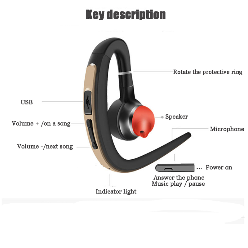 earphone sport bluetooth headset wireless music. Black Bedroom Furniture Sets. Home Design Ideas