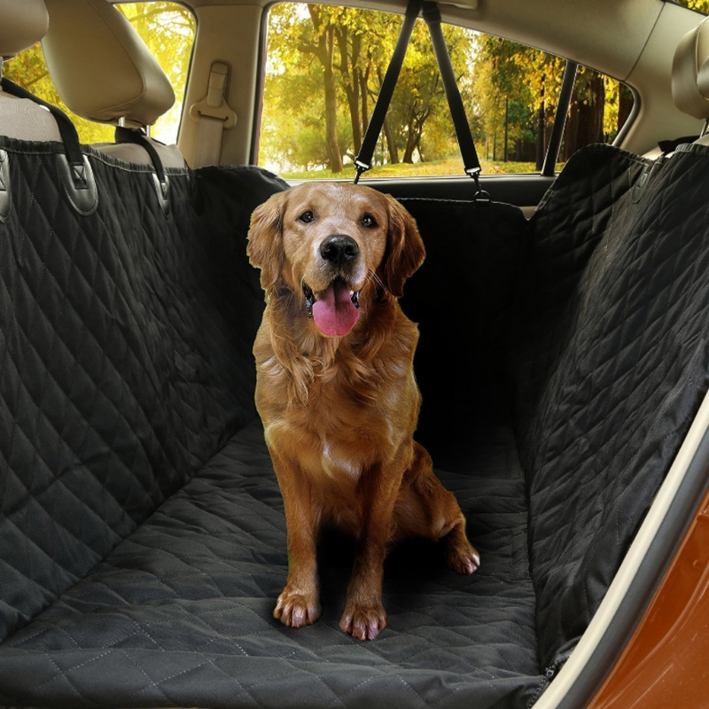 Universal Vehicle Pet Seat Cover Nonslip Folding Rear Back Cushion Protector Car Mat with Hammock Design Car Seat-Cover