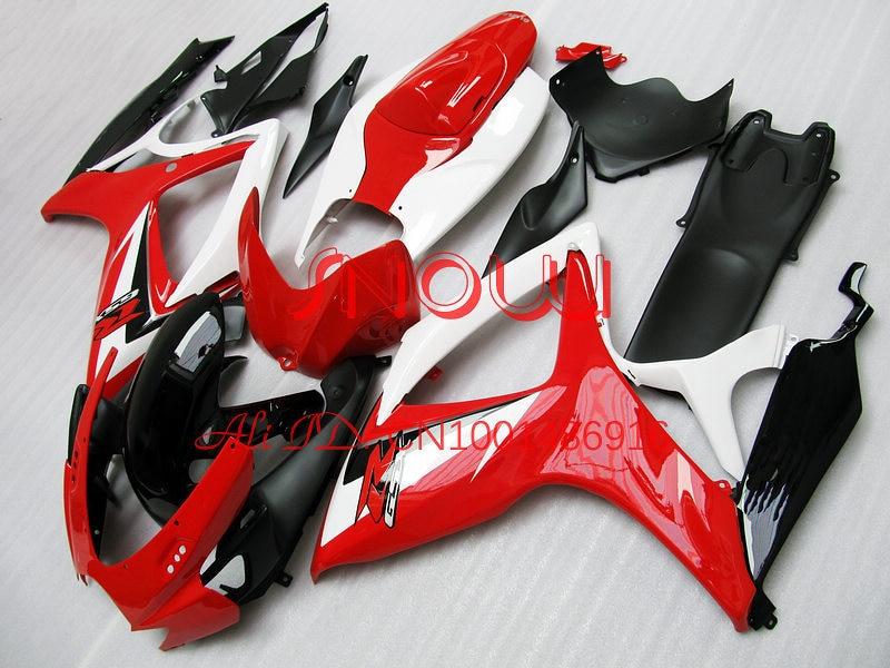 Red/White/Black for SUZUKI GSX R600 R750 06 07 GSXR 600 ...