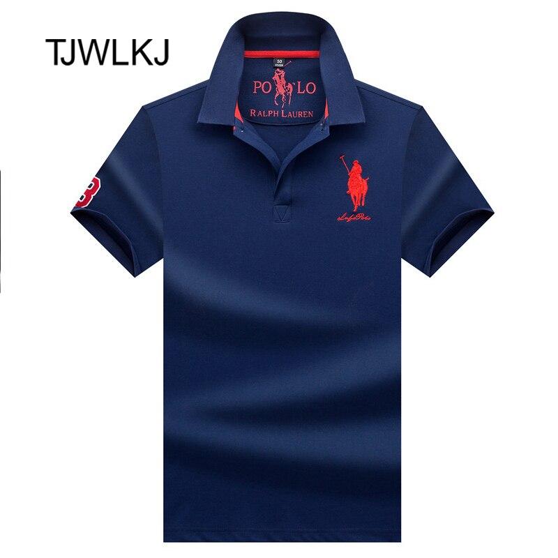 TJWLKJ Mens   Polo   Shirt Brands Clothing 2019 Short Sleeve Summer Shirt Man Black Cotton Poloshirt Men Plus Size   Polo   Shirts