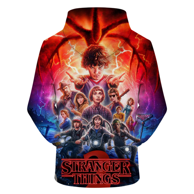 2018 New Men's Hoodies Stranger Things Printed Pullover Thin Hoodies & Sweatshirts For Spring Antumn Men Coat Casual Clothes 1