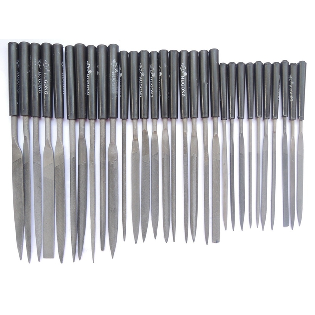 30pcs Wood Carving Tools Woodworking Rasp Needle Files Diameter Needles File Microtech Metal Filing Mini Hand Tool DIY Hobby