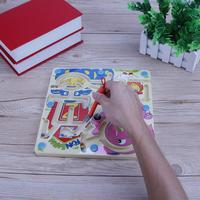 Kids Wooden Magnetic Animal Maze Chess Toy Baby Early Educational Learning Puzzles Family Games Kids Children