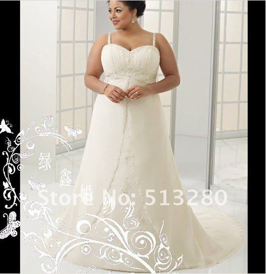 E77 Chiffon Fat People Thin The Church Beaded Wedding