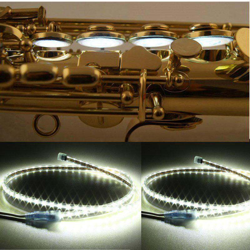 4 Stücke Saxophon Flöte LED Leak Light Sax Repairment Tool Für Instrument
