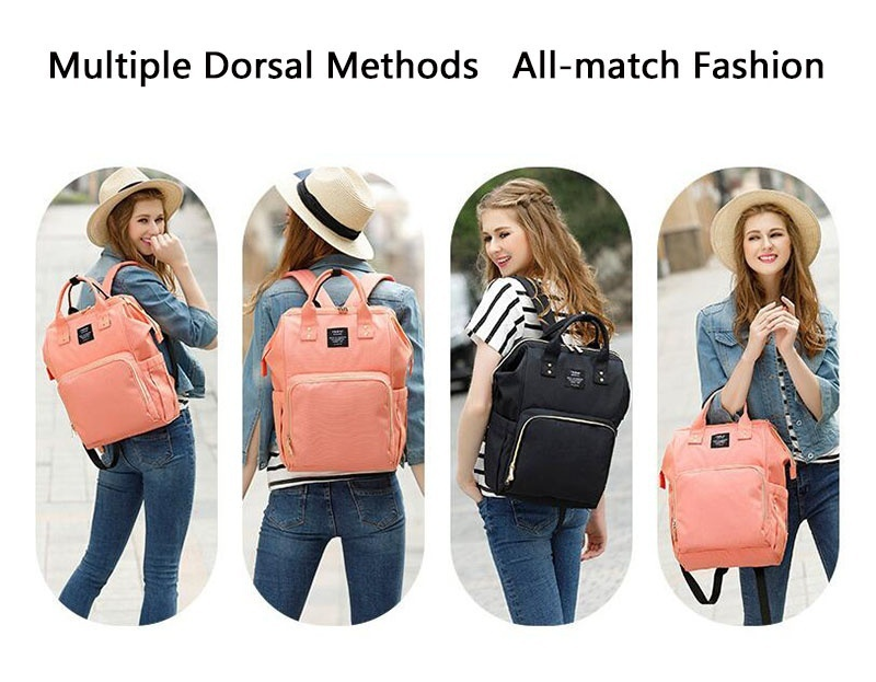 HTB1RLRsDCBYBeNjy0Feq6znmFXaE Lequeen Fashion Mummy Maternity Nappy Bag Large Capacity Nappy Bag Travel Backpack Nursing Bag for Baby Care Women's Fashion Bag