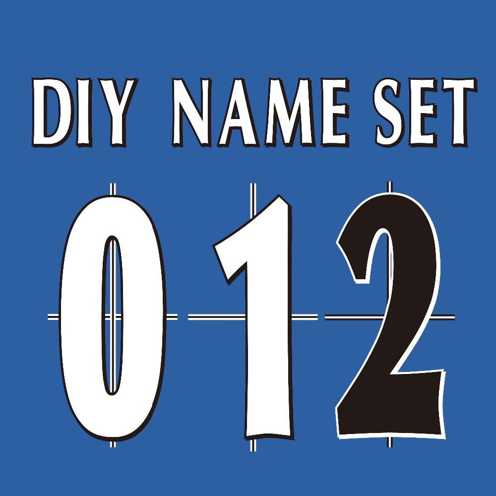 Inglaterra Premier League 97-06 branco preto Name Number Set ou nameset DIY