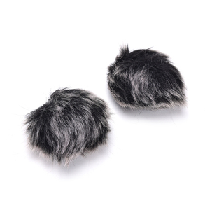 Image 4 - Dark grey Artificial Fur Microphone Windscreen Outdoor MIC Windshield Wind Muff For Lapel Microphone 1PC