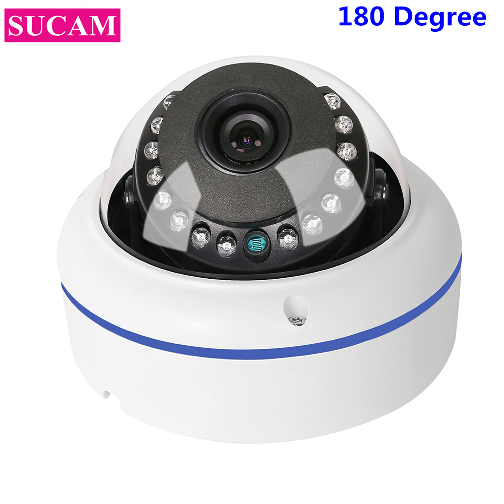 SUCAM Full HD 1080P Dome Fisheye AHD Security Camera 20M IR Night Vision 180 Degree Angle 2MP AHD CCTV Camera with OSD Cable