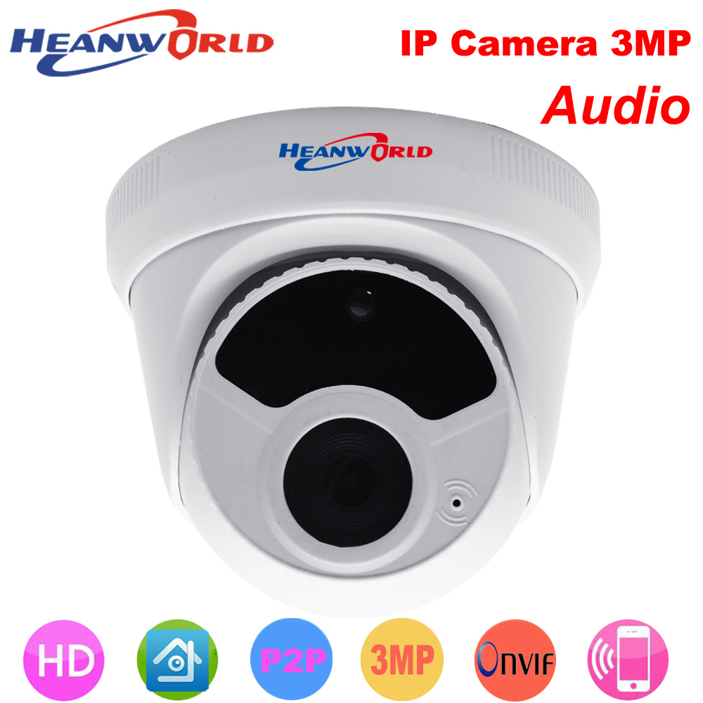 Heanworld HD IP Camera 3MP 5MP Mini Dome camera indoor with mic sound Night Vision Security CCTV webcam ip cam P2P ONVIF H.265 960p dome camera mini 1 3mp ip camera hd with night vision onvif cctv security camera network home ip cam indoor low light