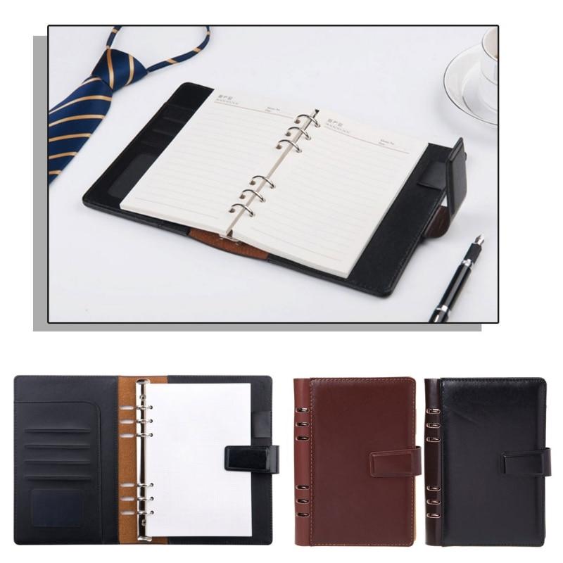 OOTDTY ноутбук превосходного качества винтажный ноутбук искусственная кожа планировщик разделители спиральный ноутбук A5 личный дневник