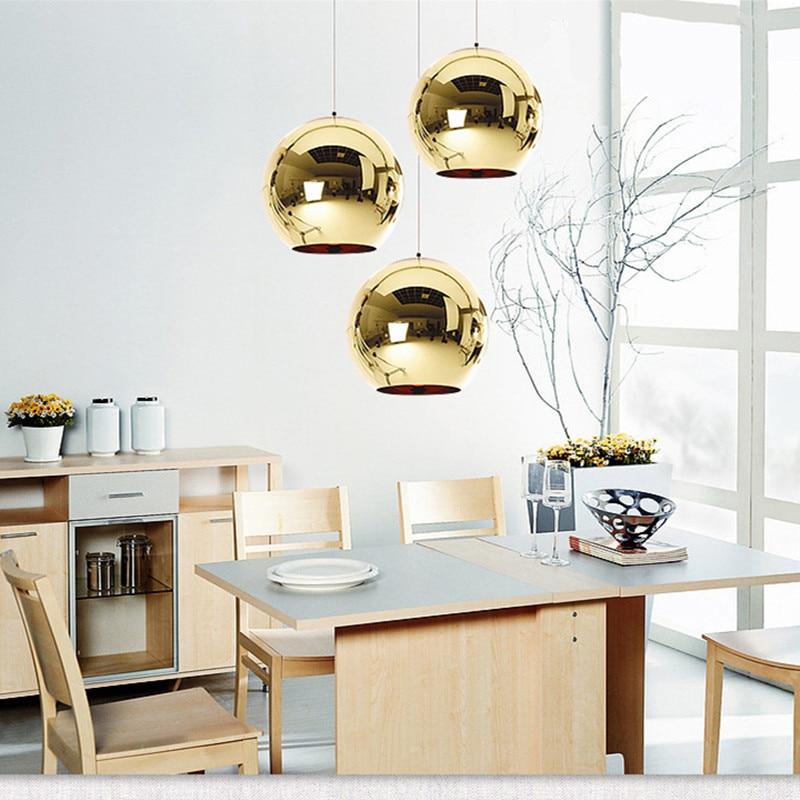 Moderne Pendelleuchten Dixon Style Globe Pendelleuchte Kupfer Glas - Innenbeleuchtung - Foto 5