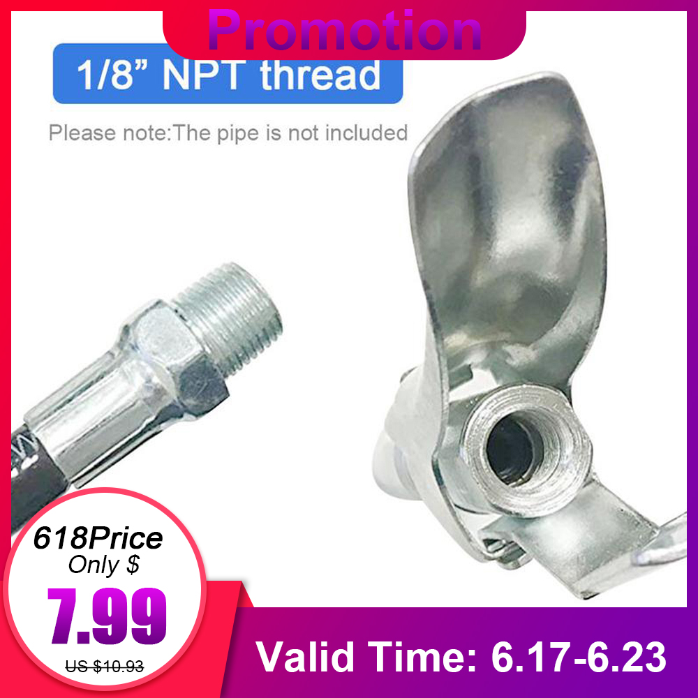 Heavy Duty Quick Release Grease Gun Coupler onto Fittings 10000PSI 1/8 NPT Self-locking Two Press Easy to PushHeavy Duty Quick Release Grease Gun Coupler onto Fittings 10000PSI 1/8 NPT Self-locking Two Press Easy to Push