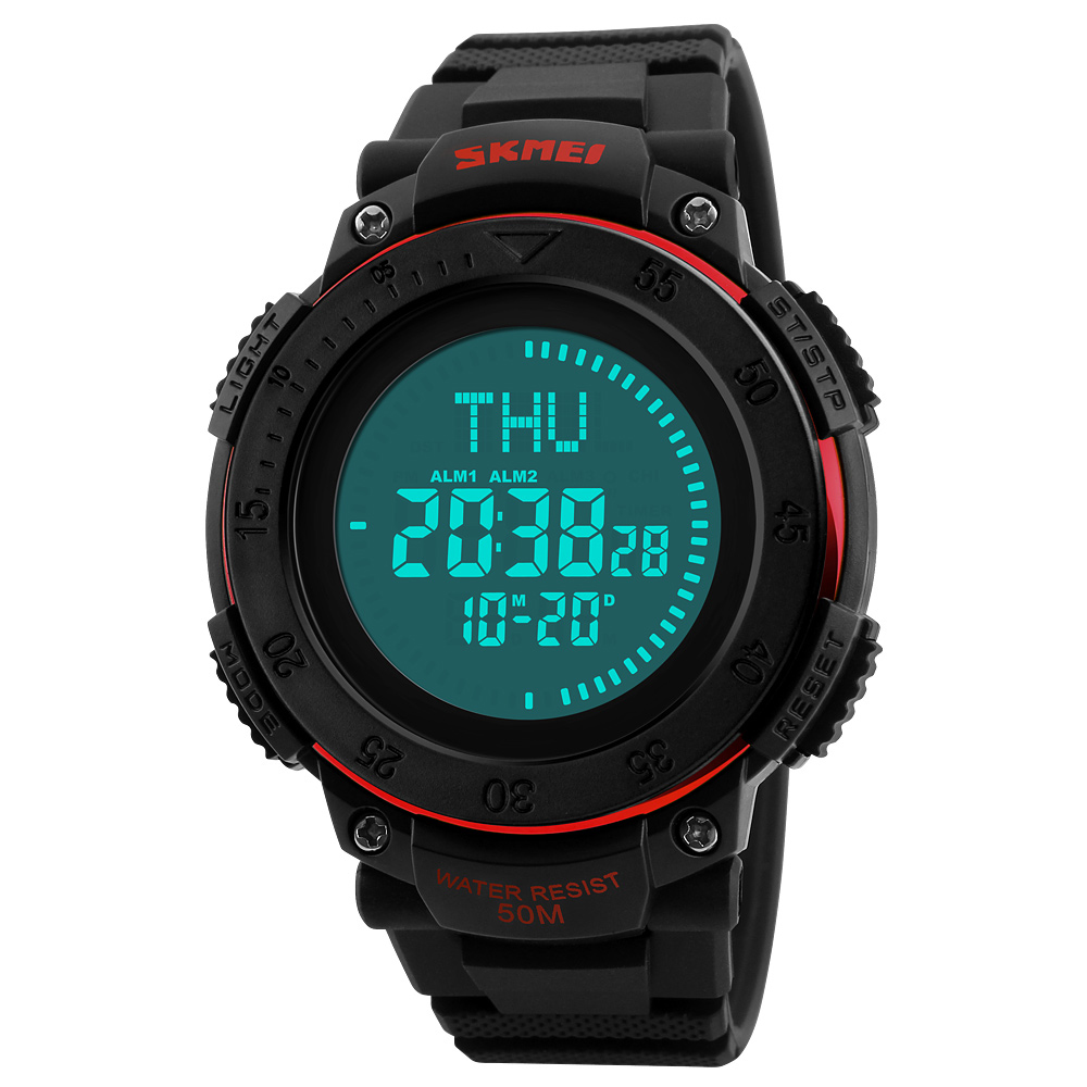 Watches Skmei Digital Sport Watch Men 5atm Waterproof E-compass Sports Watches Led Electronic Watch Outdoor Sports Digital Wristwatch