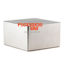 N52 1 шт. блок 50x50x30 мм супер стерке редкоземельный магнетен неодимовый магнит 50*50*30 мм 50x50x30 мм