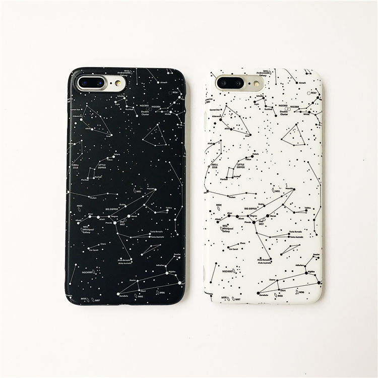 Starry Sky Constellation Phone Cases For Iphone X 7 7Plus For Iphone 6 6s 6Plus 6splus 8 8plus