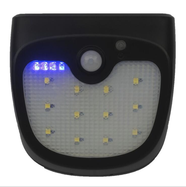 IP65 Waterproof 12 LEDs Solar Light Outdoor Lighting PIR Motion Sensor Solar Panel Powered Lights For Garden Corridor Wall Lamps