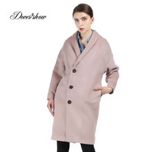 Women Single Breasted Long Cashmere Coat 2017 New Woolen Coat Women Winter Jacket Overcoat Female Outwear Casaco Feminino Trench