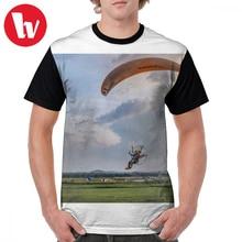 все цены на Paramotor T Shirt Paramotor T-Shirt Fun 100 Percent Polyester Graphic Tee Shirt Men Short Sleeves 6xl Printed Summer Tshirt онлайн