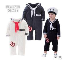 Baby Boy Clothes Children's Clothing Sets Long Sleeve Kids Clothes Boys Navy Style Romper Clothes Baby Kids Clothing Set Retail(China)