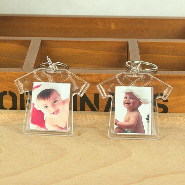 15PCS Klar acryl mini foto rahmen keychain hochzeit gefälligkeiten und geschenke kinder geburtstag partei liefert baby dusche souvenirs