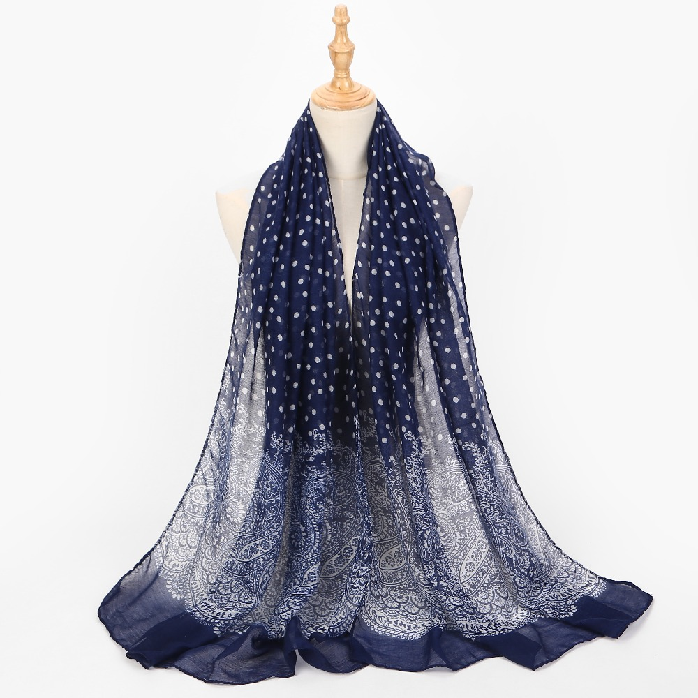 New Women Thin Wraps Shawl Large Printing Scarf Soft Cotton Lady Long Neck Scarves Voile Stole Warm Scarf Bufanda