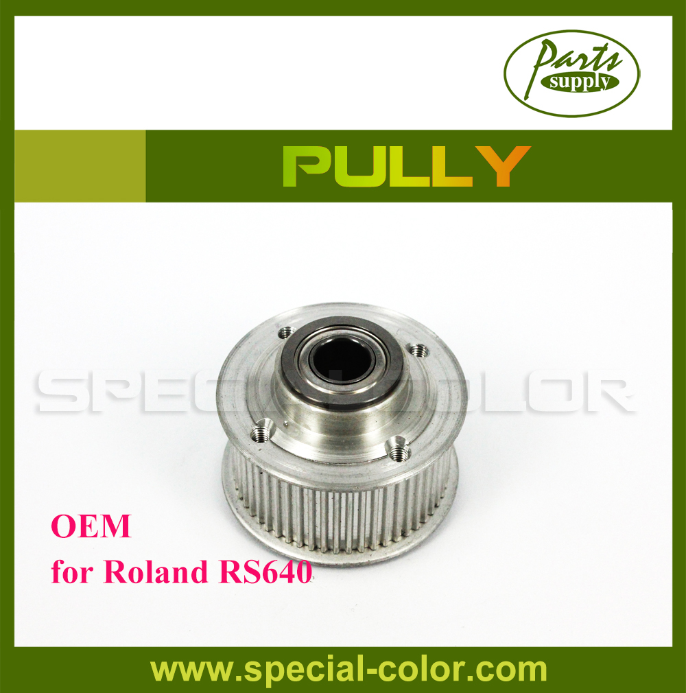 100% OEM Roland RS640 Parts Printer Pulley for RS-640 DX4 printer Pully permanent roland xj 640 xj 740 eco solvent chips 6pcs set cmyklclm printer parts