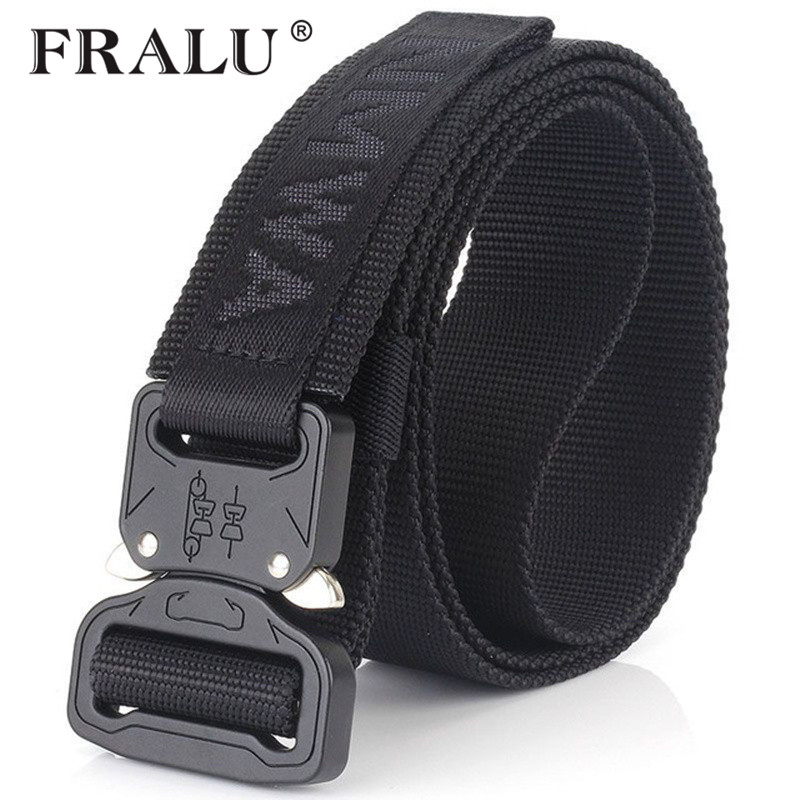 FRALU Camouflage Military Equipment Tactical   Belt   Men SWAT Combat Knock Off Army   Belt   Nylon Heavy Duty Paintball Waist   Belt