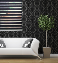Horizontal Window Shade Blind Zebra Dual Roller Blinds & Treatments Window Custom Cut to Size Black Curtains for Living Room