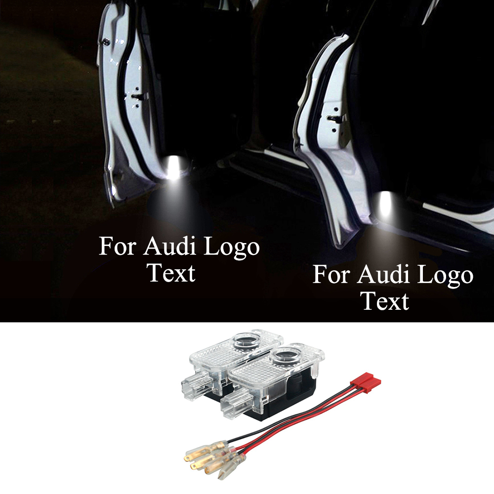Car Door Welcome Light Laser Warning Projector Emblem For Audi A3 A4 A5 A6 TT Q5 Q7 TTS Sline RS S3 S4 S5 RS3 Logo