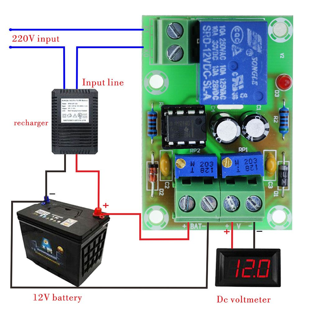 12V Battery Charging Control Board XH M601 Intelligent Charger Power Control Panel Automatic Charging Power|Integrated Circuits|   - AliExpress