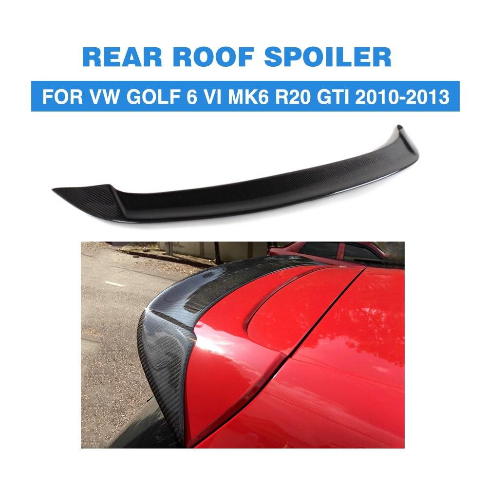 Carbon fiber/FRP Unpainted Rear Roof Spoiler Wing for Volkswagen VW Golf 6 MK6 VI GTI R20 2010 - 2013 OS Style Only for GTI R20 canbus error free for volkswagen vw golf 6 mk6 gti led interior light kit package 2010 car stying 8pcs
