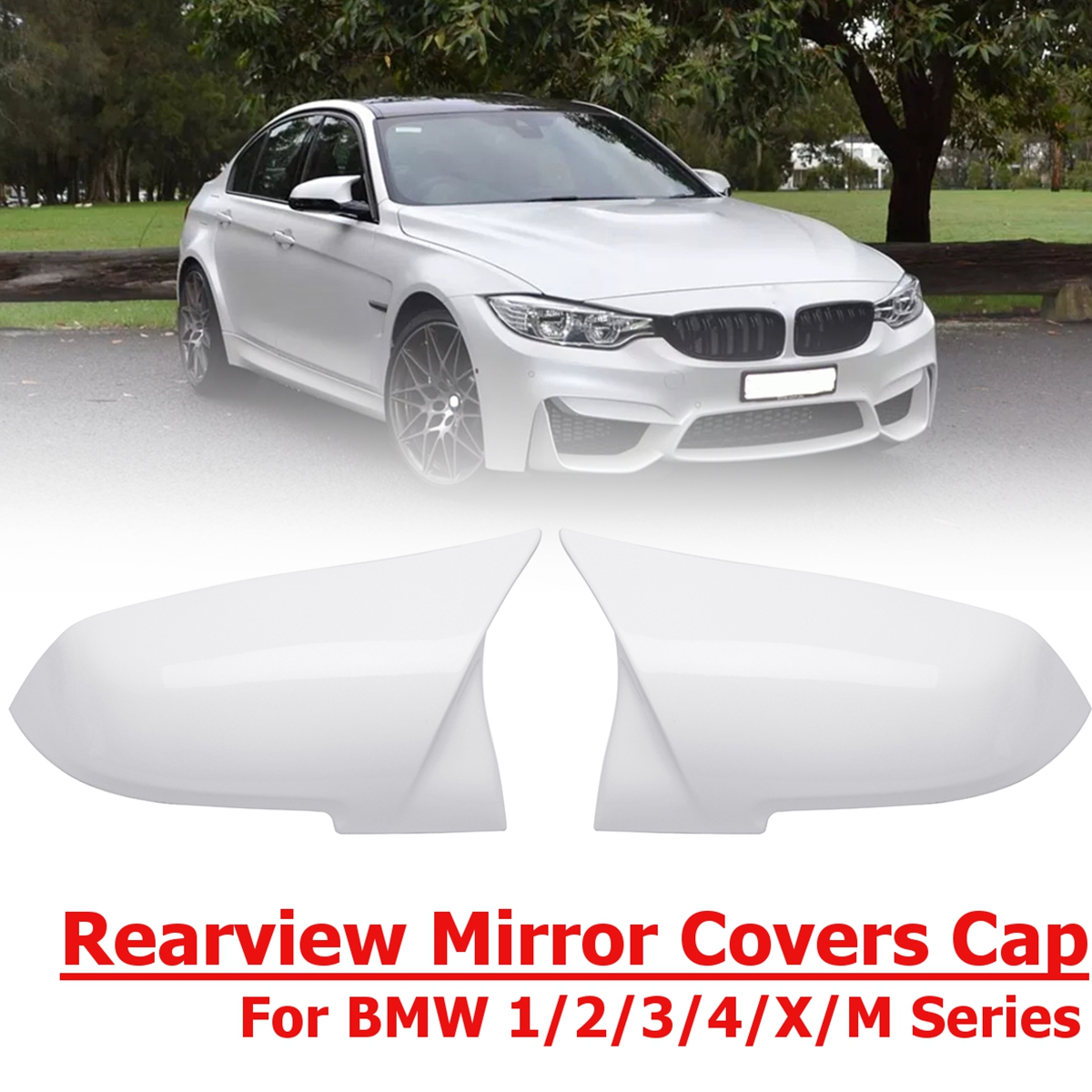 Latest Collection Of Pair White Abs Rearview Mirror Cover Cap For Bmw 1/2/3/4/x/m Series F20 F21 F22 F23 F87 X1 M2 2012-2018 High Quality Materials Auto Replacement Parts