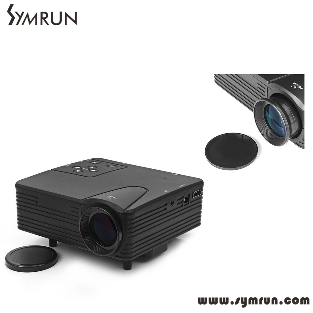 ФОТО New Symrun H80 Projector 640 x 480 Pixels 80 Lumens Full HD Projector Home Theater 1080P Projection Mini LED Video Proyector
